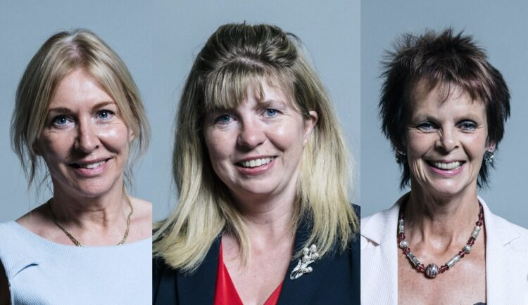 Maria Caulfield, Anne Milton and Nadine Dorries