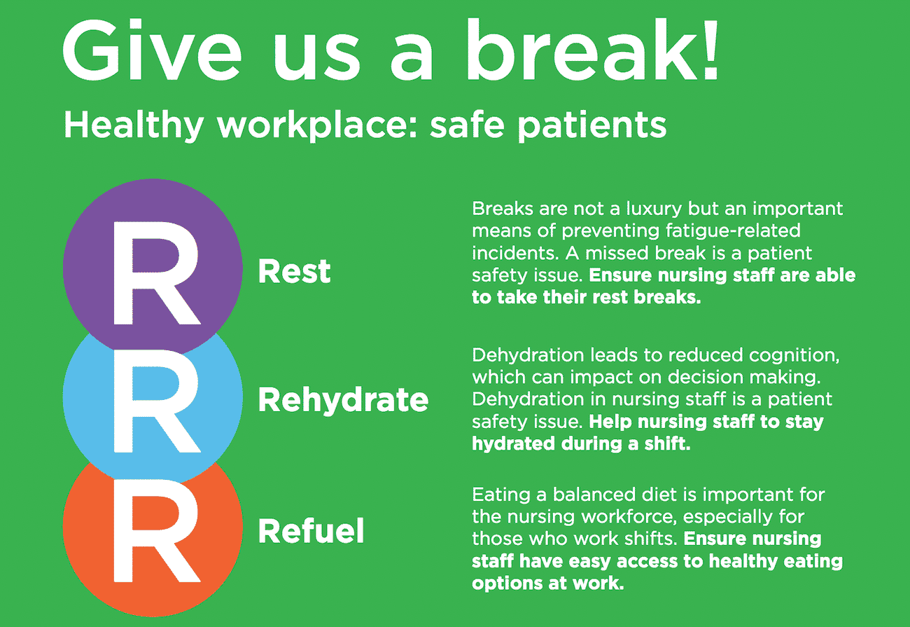 RCN launches campaign urging nursing staff to take breaks