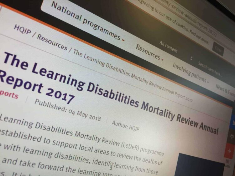 Learning Disabilities Mortality Review