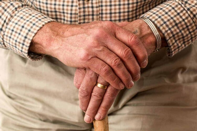 old persons hands