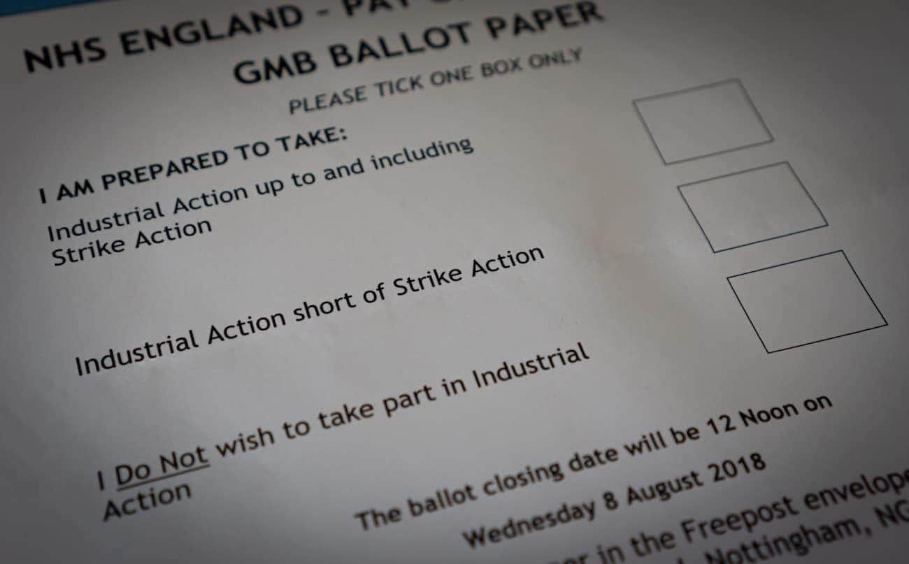 Union ballots members on potential strike action over NHS pay deal