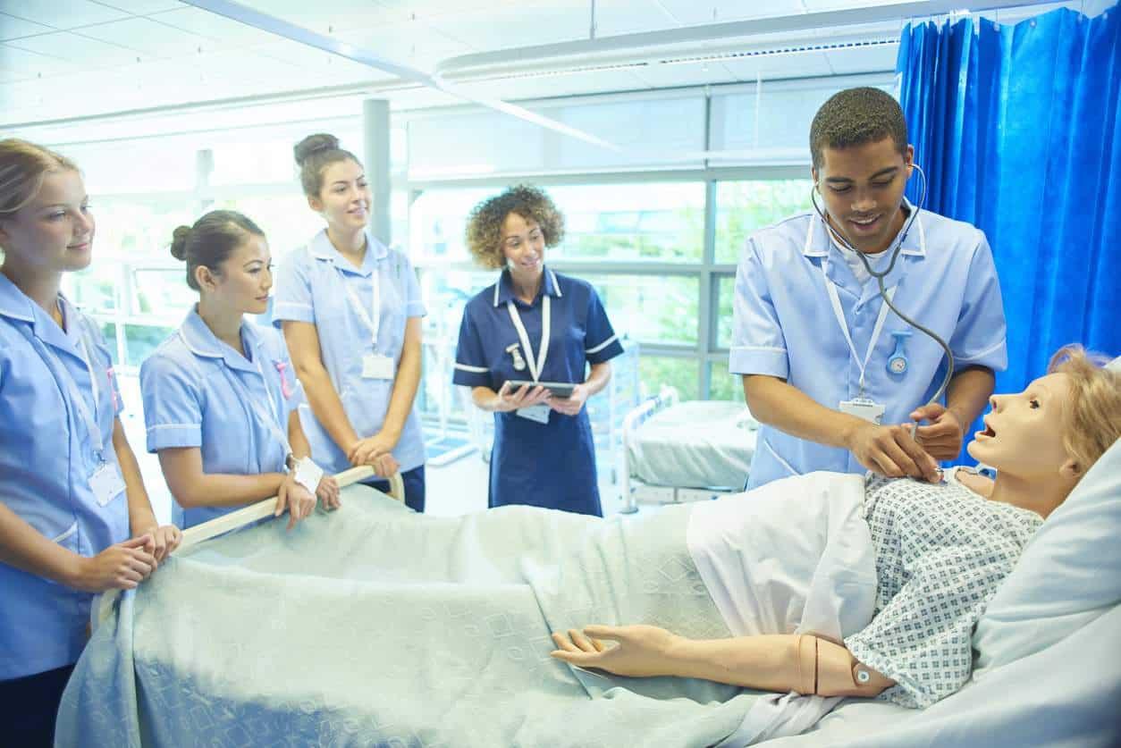 student nurses learning