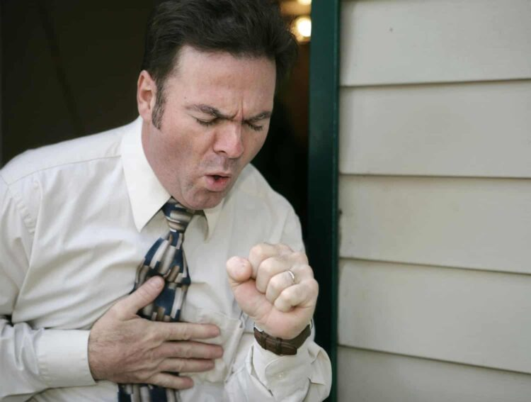 coughing man cpr