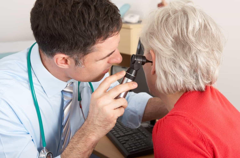 doctor examine ear