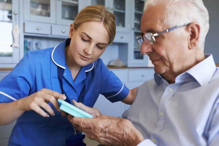 Community Nurse with Patient