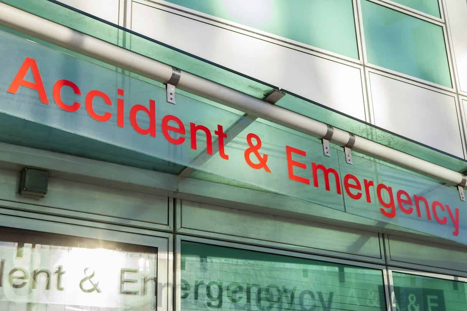 sign Accident and Emergency Department.