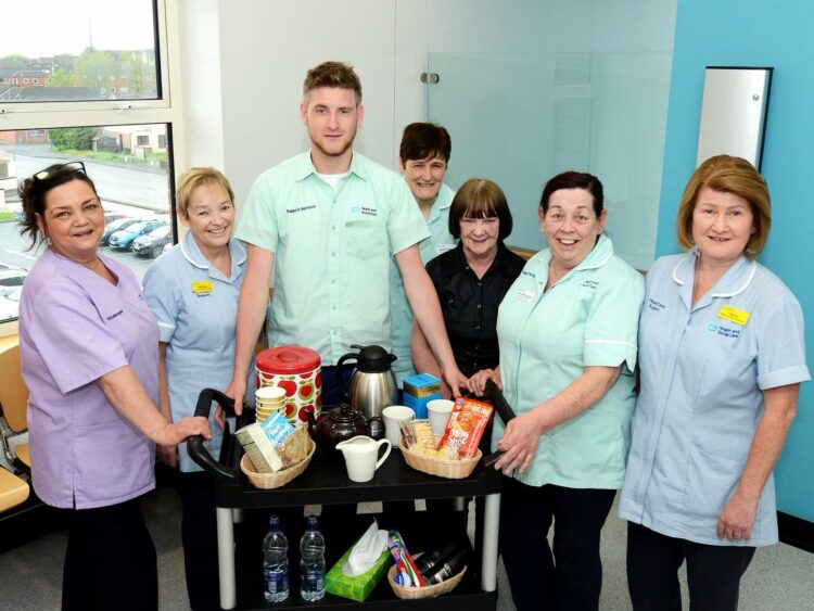 comfort trolleys' for the family of dying patients