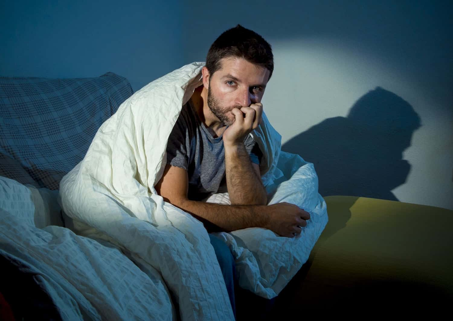 Man off sick in bed