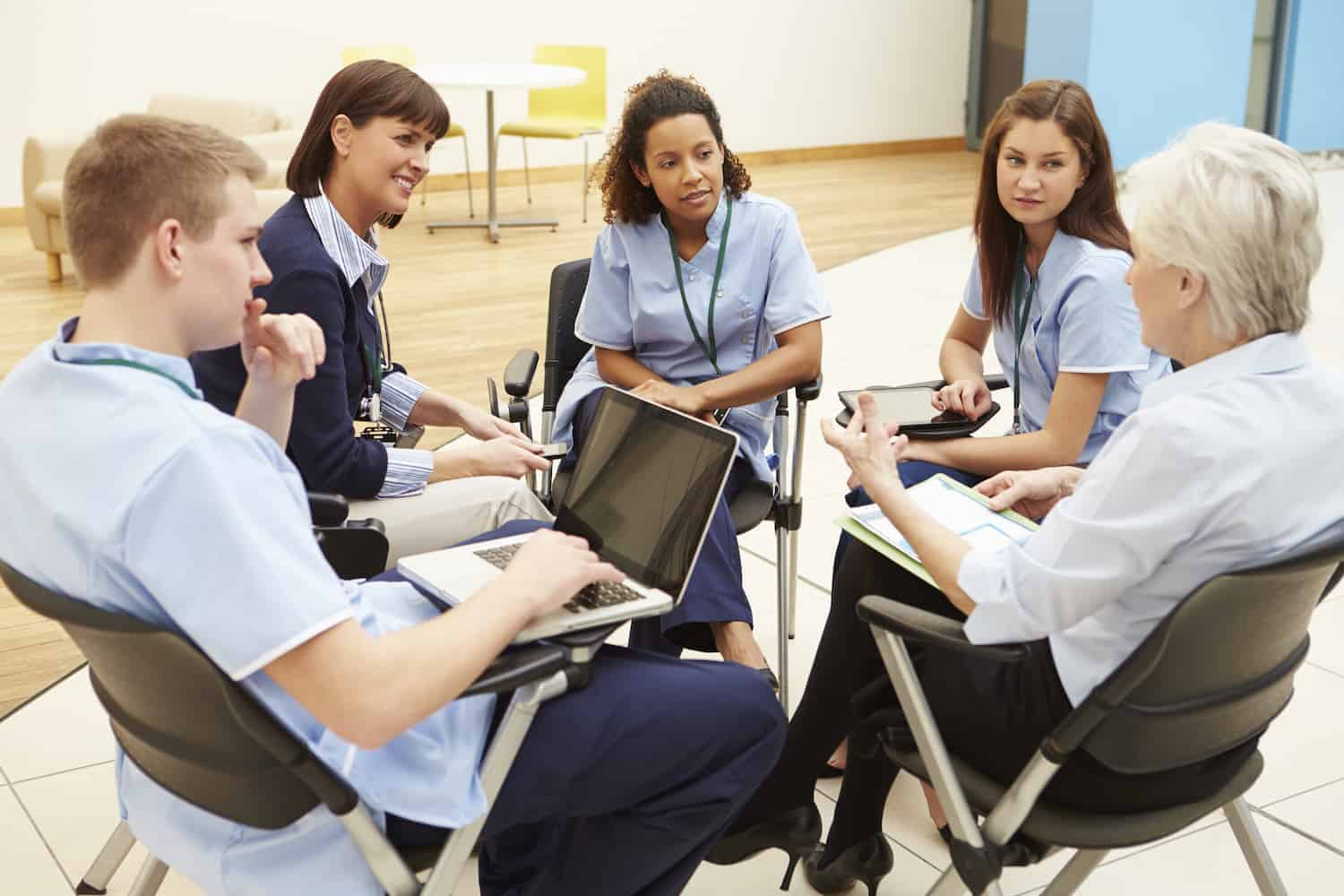 Group of nurses in meeting