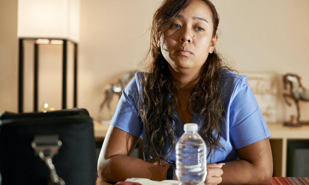 Stresed nurse